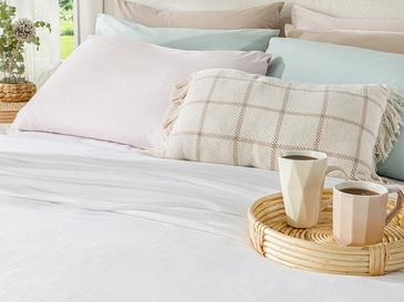 Breeze Пике-Лятно Одеяло Двоен Размер 200x220 См Бяло