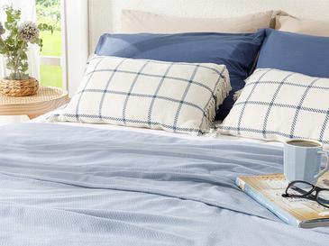 Breeze Пике-Лятно Одеяло Двоен Размер 200x220 См Синьо