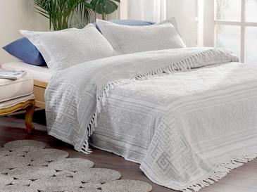 Greek Key Комплект Покривало за Легло Единичен Размер 160x240 См Сиво