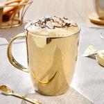 Porcelain Cup 300 Ml Gold