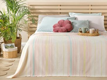 Contemporary Пике-Лятно Одеяло Единичен Размер 150x220 См Розово-Цвят Мента