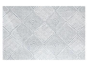 Cotton Geometric Килим Тъкан Lacivert
