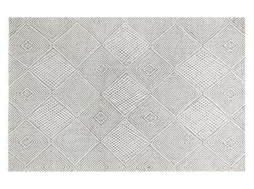 Cotton Geometric Килим Тъкан 12'li Сиво