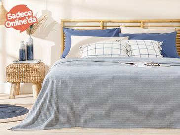 Trios Пике-Лятно Одеяло Двоен Размер 200x220 См Тъмносиньо