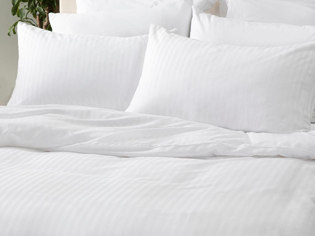 Crystal İpeksi Twill King Size Nevresim Takımı 240x220 Cm Beyaz