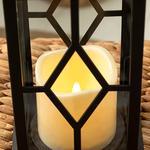 Adela With Led Lantern 14x14x30 Cm Black