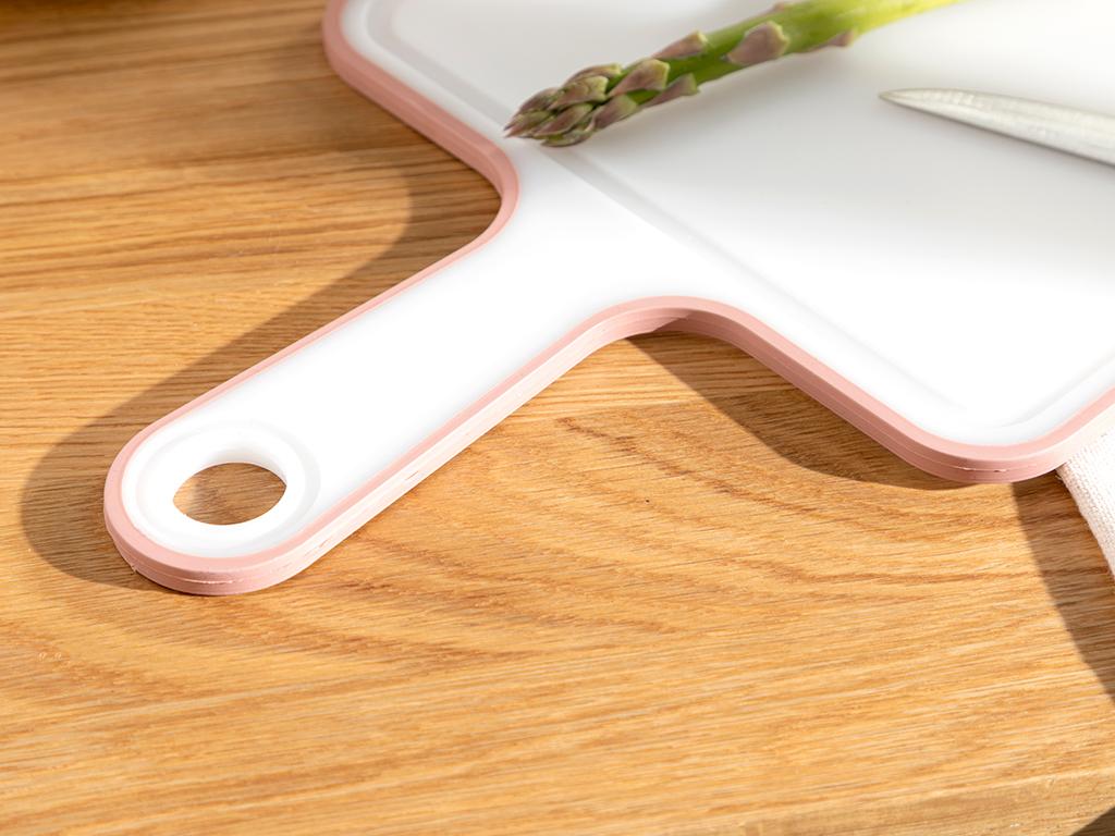 Basic Plastic With Handle Cuttıng Board 40 Cm Darkpink