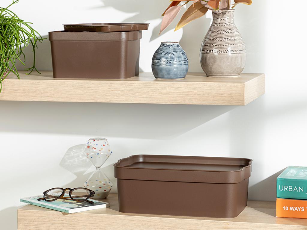 Basic Storage Box Brown,