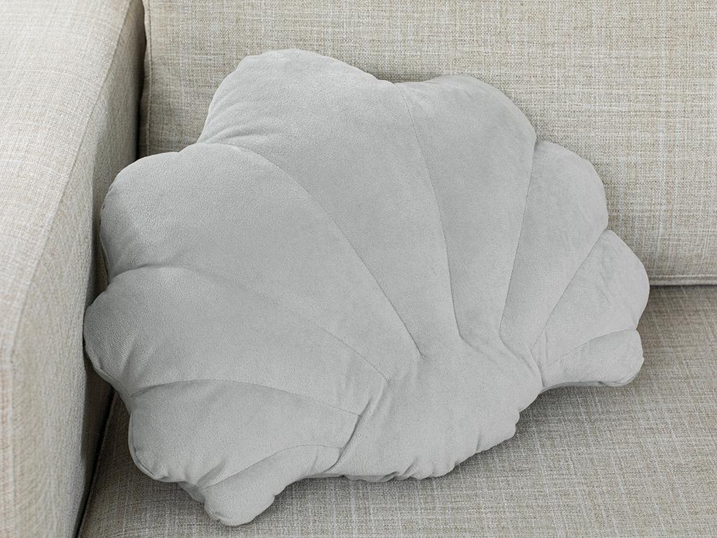 Shell Velvet 38x45 Cm Light Gray