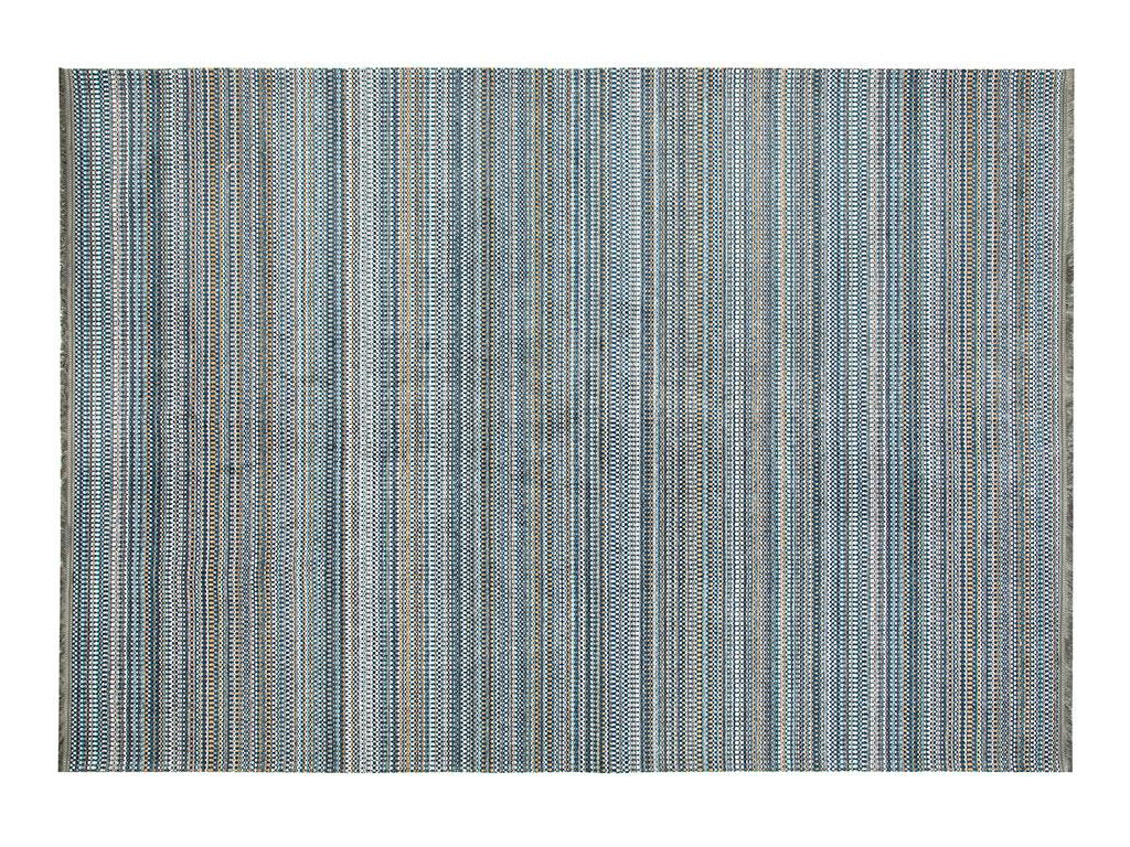 Modern Chic Chiffon Anti Slip Carpet 80x150 Cm Dark Blue