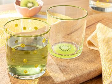 Чаша За Безалкохолно 2 Броя Стъкло 510 Ml Зелено