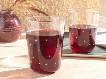 Чаша За Безалкохолно 3 Броя Стъкло 250 Ml Злато
