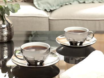 Комплект Чаени Чаши 2 Броя Порцелан 22,5x27,5 Cm