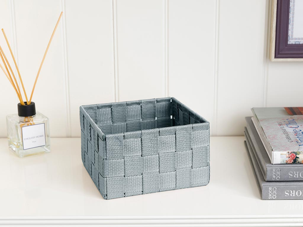 Shine Basket 16x16x9,5 cm Dark Beige