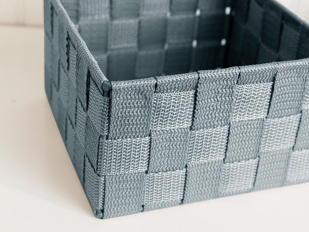 Shine Basket 14x14x7,5 cm Dark Beige