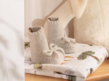 Natural Бебешки Чорапи 61,0x21,5x41,5 Cm Сиво