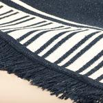 Rash Weaved Rug 80x150 Cm Dark Blue