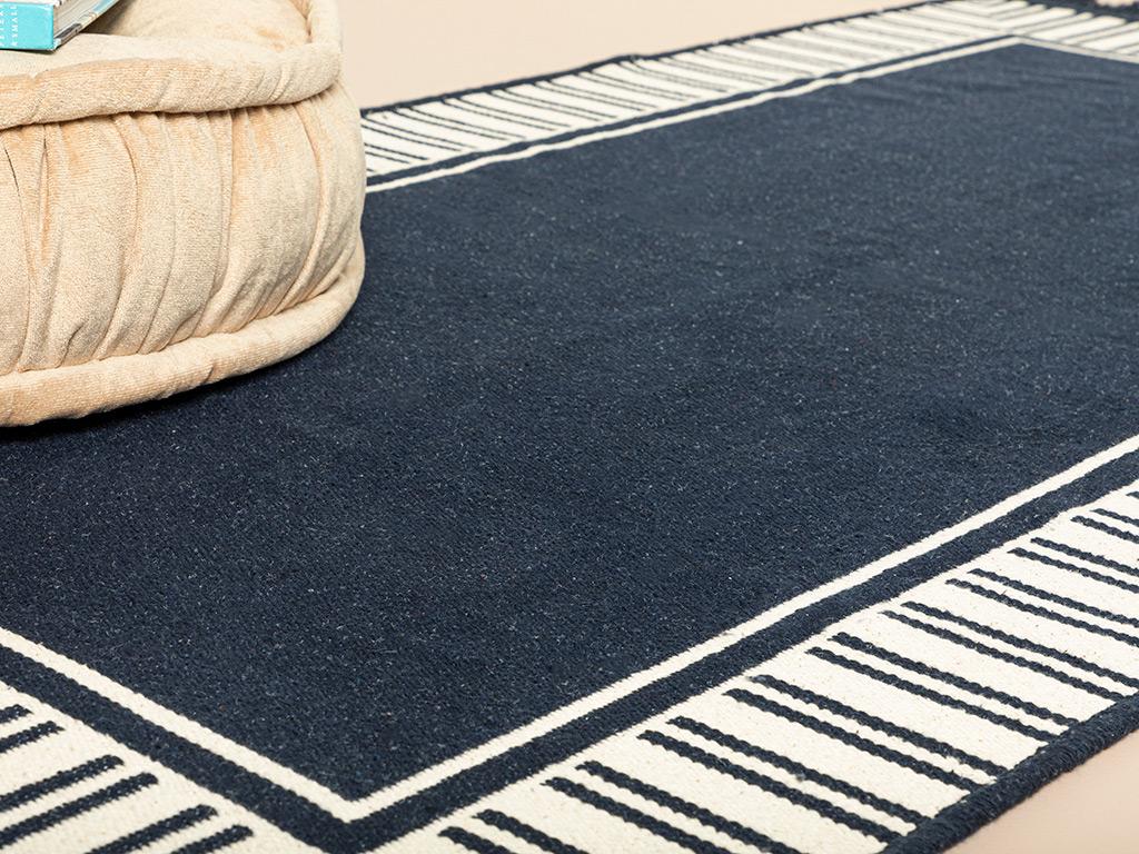 Rash Weaved Rug 120x180 Cm. Dark Blue