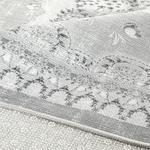 Romantic Floral Chiffon Anti Slip Carpet 120x180 Cm. Gray
