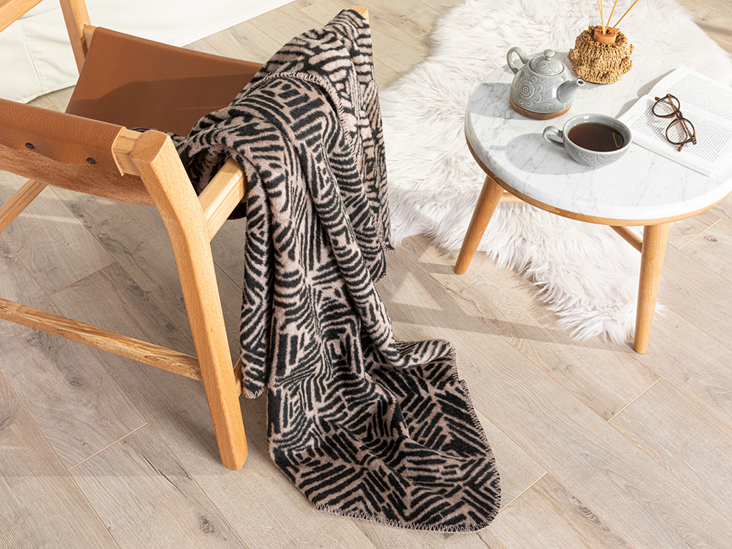 Acrylic Tv Blanket 130x170 Cm Black