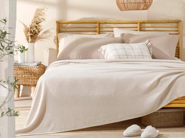 Shaped Пике-Лятно Одеяло Двоен Размер 200x220 См  Бежово
