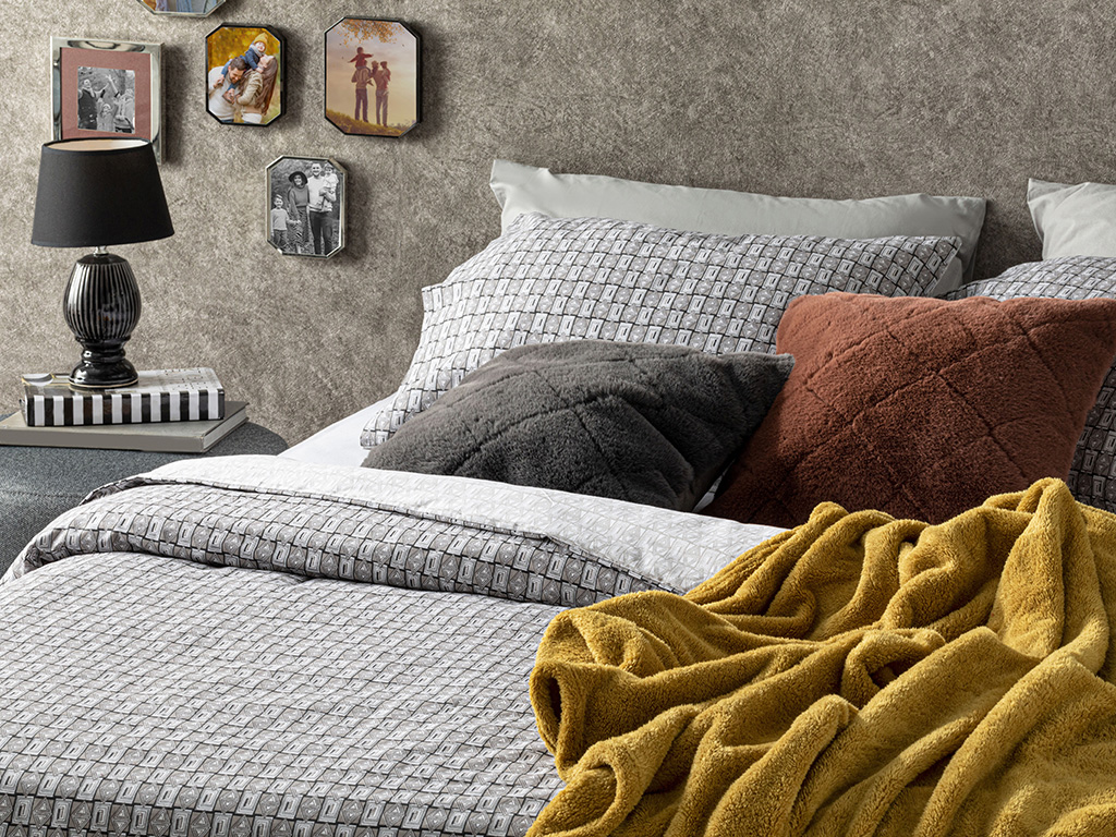 Cottony Super King Duvet Cover Set Pack 260x220 Cm Gray